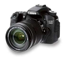 Cámara Canon EOS 70D con 14 Lentes Profesionales