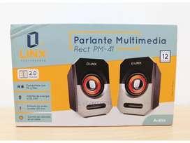 Parlantes Multimedia Linx PM-41 para Computador