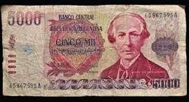 Billete 1000 Pesos Arg. 1983 Bottero 2638 Wc 318 Bueno