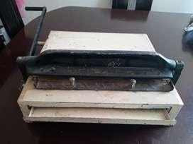 Espiraladora y guillotina