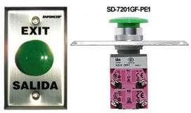 ENFORCER : BOTON HONGO Y PLANO - BOTON HONGO Y PLANO SD-7201GC-PE1