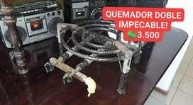 QUEMADOR DOBLE IMPECABLE!!!