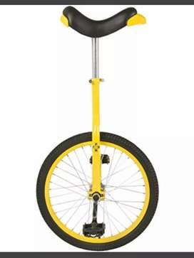 """Promoción: Monociclo 20"""" aluminio cromo."""
