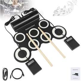 Bateria Electrónica Musical Drum 7kid Portátil Altavoz