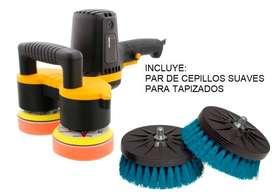 Maquina Doble Cepillo Cepilladora Para Limpieza Lavado De Muebles