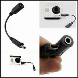 adaptador cable para microfono go pro 1 2 3 3 4