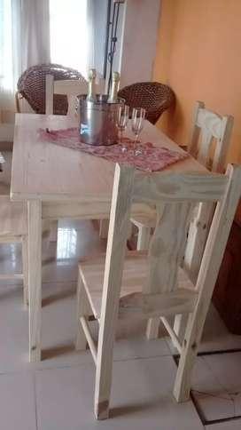 En oferta nuevo mesa y 4 sillas nuevas a domicilio
