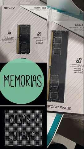 Memorias ram nuevas y selladas