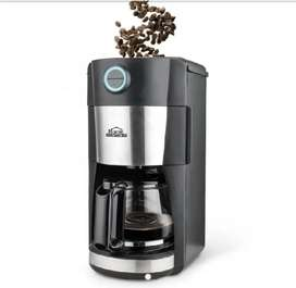 Cafetera con moledor de café 2 en 1 cap 12 tazas Home Elements