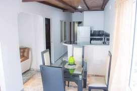 Habitaciónes amobladas con ventilador, aire, aire y jacuzi