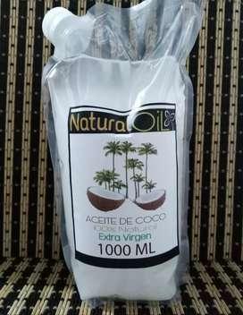 Aceite de coco 1 litro extra virgen segunda mano  San Bernardo