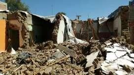 Demoliciones   con o sin máquina casas con pasillo etc