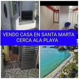 Se vende casa a 4 cuadras de la playa