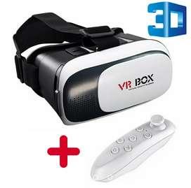 Gafas realidad virtual 3D + control Bluetooth juego celular películas videos para smartphone