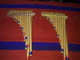 Sicus o zampoñas cromáticas nuevas 5 octavas 45 cañas en total con caña especial y estacionada