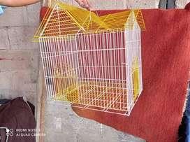 Jaulas para aves de dos techos