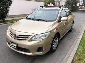 Toyota corolla 2013 taxi gnv 9600 dolares