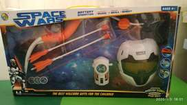 Set Space Wars Acrco y Flecha + Lanza Tazos + Mascara