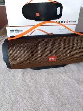 PARLANTE MARCA MYMOBILE CON BLUETOOTH ENTRADA USB MICRO SD RADIO FM
