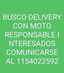 BUSCO DELIVERY CON MOTO