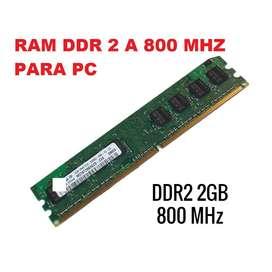 memoria ram ddr 2 de 2 gigas pc