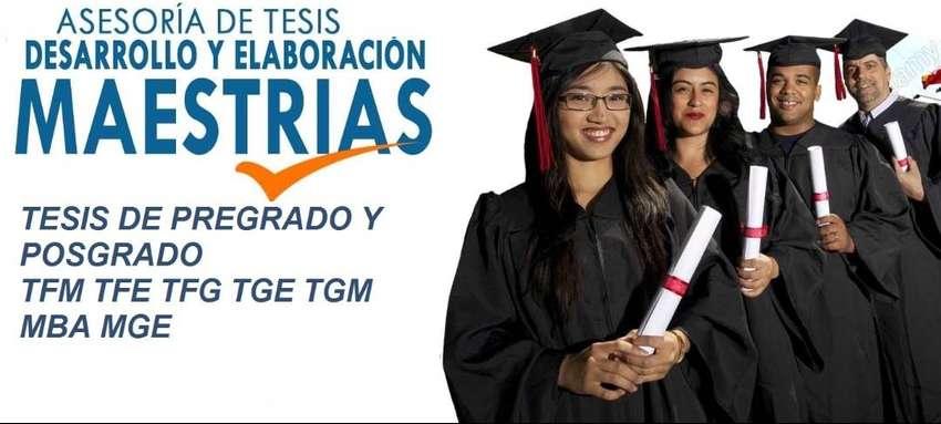 ASESORÍA INTEGRAL ELABORACIÓN TESIS BACHILLER PREGRADO POSTGRADO MAESTRÍAS GUAYAQUIL PROYECTOS DE GRADO TFM TGM TFE TFG