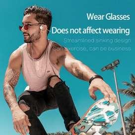 Auriculares deportivos inalámbricos Bluetooth y estéreo de conducción ósea para negocios, para Samsung, Xiaomi, Huawei