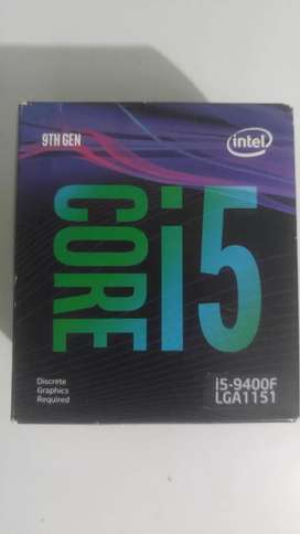 VENDO CPU Intel Core i5 9400f Six Cores
