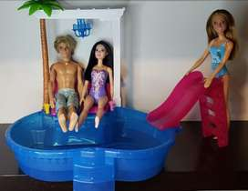 Vendo piscina barbie