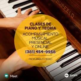 Clases de piano presenciales o virtuales