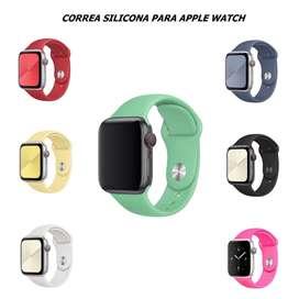 Correa Silicona Color Entero Para Apple Watch 44 / 42 / 40 / 38 Mm