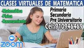 Profesor de Matemática - Clases Particulares de Matemática, Física y Razonamiento.