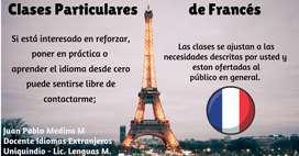 Docente oferta clases de francés al público en general