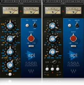 Plugins Waves Api Eq, 550 A-550B Producción Musical