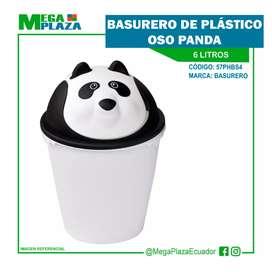 Basurero de Plástico oso panda