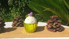 Cupcake Adorno: alhajero de cerámica. Cupcake con corazón