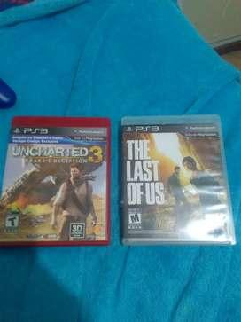 Uncharted 3 y The last of us cambio no vendo