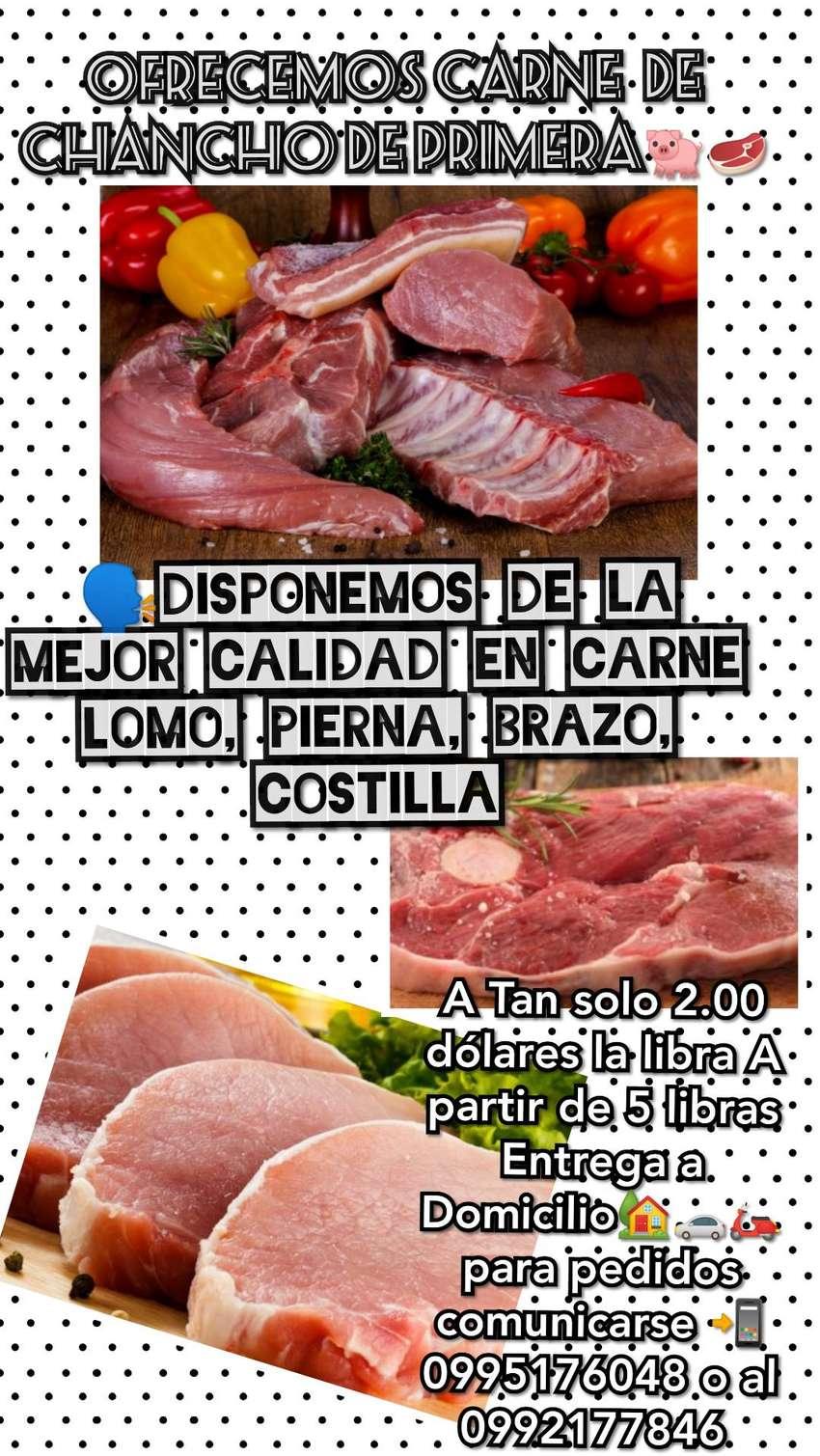 Vendo una deliciosa carne de Chancho a 2 dólares la libra A partir de 5 libras Entrega a Domicilio 0