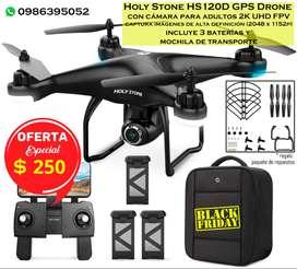 Drone Holy Stone HS120D 2K UHD FPV, captura imágenes de alta definición (2048 x 1152p)