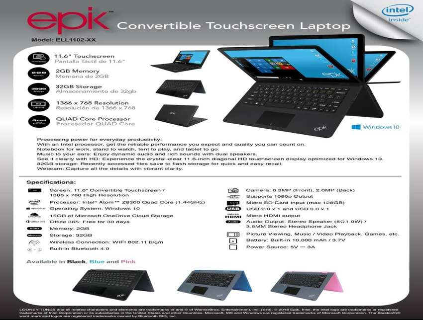 """TABLET/LAPTOP 11,6"""" CONVERTIBLE TOUCH SCREEN 0"""