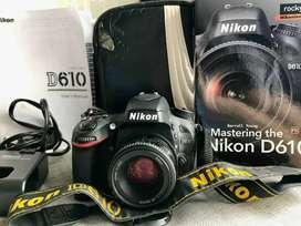 Cámara Nikon D610 Fx Como Nueva + Lente Nikon 50mm 1.8f