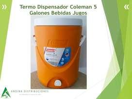 Termo Dispensador Coleman 5 Galones Bebidas Jugos Incluye Asistencia 6/1