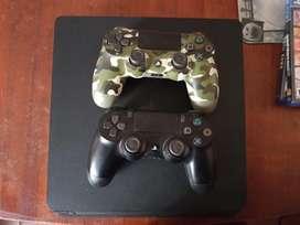 Ps4 500gb 2 joysticks 2 juegos
