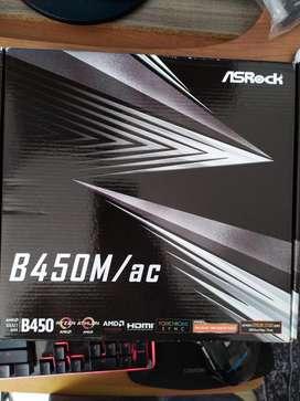 Board Asrock B450m Ac  Wifi   Nueva Ryzen 3000
