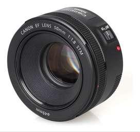 Lente Fijo Canon 50 Mm Fijo F1.8 Ef Stm