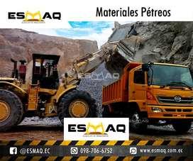 Materiales Pétreos para construcción: Ripio, Arena, Polvo, Piedra, Piedra Basílica, Sub-base, entrega en volquetas.