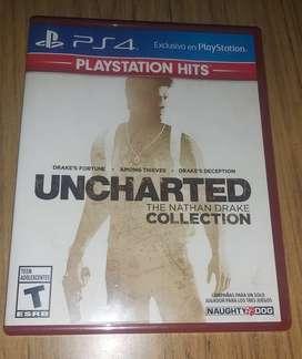 Uncharted collection Nuevo para PS4 Español latinoamericano
