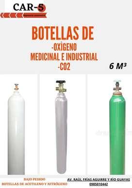 Botellas de Oxigeno Medicinal e Industrial y CO2