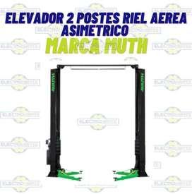 ELEVADOR 2 POSTES RIEL AEREA ASIMETRICO