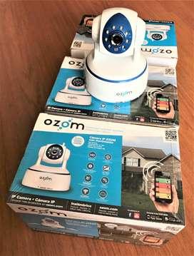COMBO CCTV OZOM: 6 CAMARAS , 1 BOMBILLO Y ROUTER WIFI